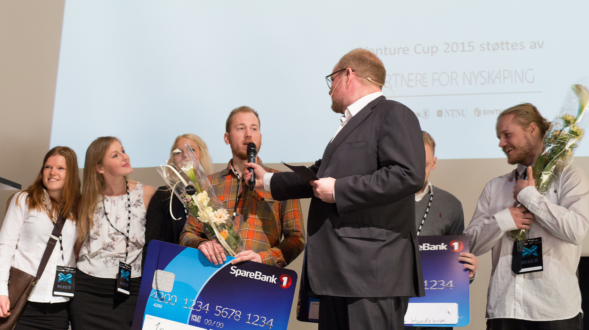 Me and the team receiving the award. Photo: Kai T. Dragland, NTNU